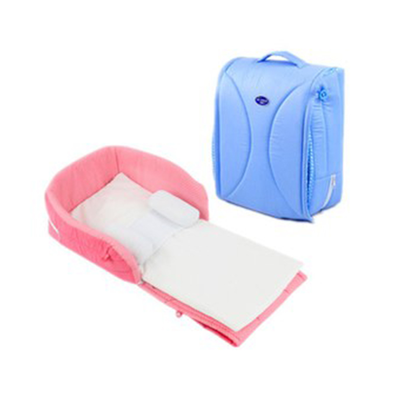 Baby Portable Bed Bag Foldable Newborn Travel Crib Carry-on Nest Bed Diaper Bag Bed For Baby Big Capacity Mummy Bag Baby Crib