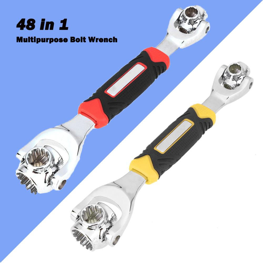 Tiger Wrench 48 In 1 Tools Socket Works With Spline Bolts Torx 360 Degree 6-Point Universial Furniture Car Repair Hand Tools