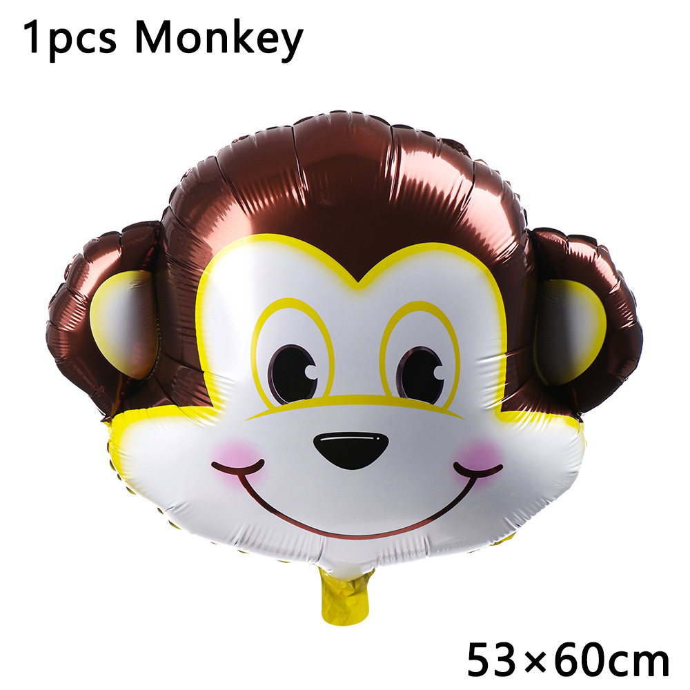 1//2pcs Animal Cartoon Foil Balloons Kid Decor Jungle Birthday Party Baby Shower.