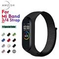 Amzish Nylon Strap Für mi Band 4 3 Armband Atmungsaktive Armband Für Xiao mi mi Band 4 3 mi band strap-in Cleveres Zubehör aus Verbraucherelektronik bei