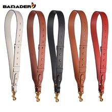 BAMADER Wide Shoulder Strap Genuine Leather Bag Metal Hook New Adjustable 95CM-110CM Accessories