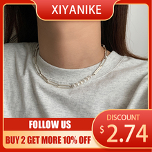 XIYANIKE Pearl Necklace Female Light Luxury Exquisite INS Simple Temperament Hip-hop Clavicle Chain Necklace Accessories Jewelry