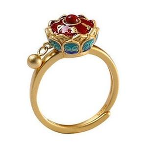 New 925 silver new enamel non inlaid ring Chinese style retro elegant charm women's luxury brand jewelry