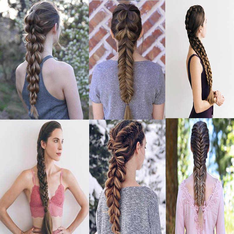 Xuanguang Synthetische Vlechten Hair Extensions Lange Jumbo Vlechten Gehaakte Haar Bulk Paars Roze Grijs Blauw Pure Kleur