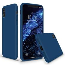 DATALAND candy color liquid silicone phone case for iPhone 6 6S 7 8 Plus X XR XS Max smart soft silicon cases back cover Shell