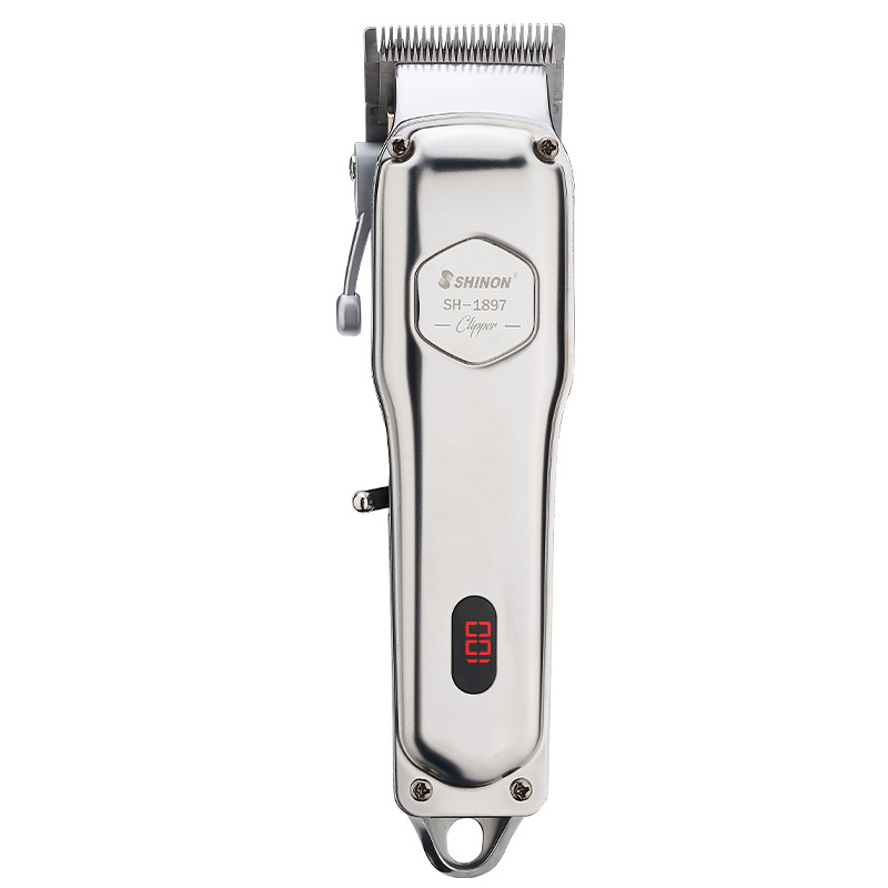 Professional Haircut Rechargeable Hair Clipper Cordless Electric Hair Trimmer Shaver Beard Shaver Machine All Metal