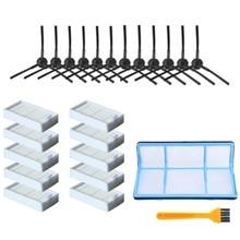 SANQ filtre à poussière primaire brosse latérale efficace filtre Hepa pour Ilife V5 V5S V3 V3S V5Pro V50 V55 X5 V5S Pro Robot aspirateur