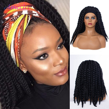 Wig Headband Wig-Senegalese Black Women Twist Natural-Black Synthetic for 2x Crochet