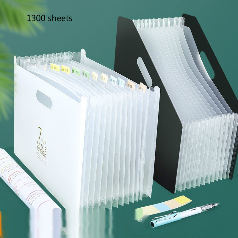 2021 New Arrival Desk File Folder Document Paper Organizer Storage Holder Multilayer Expanding Box School Office Stationery