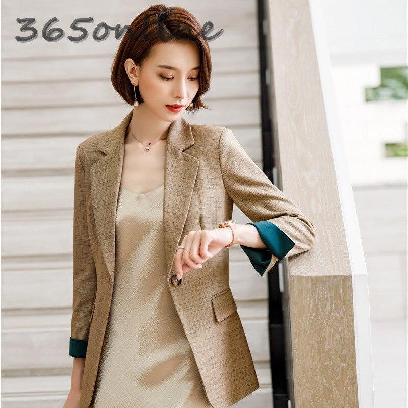 High Quality Fabric Uniform Designs Women Business Blazers And Jackets Autumn Winter Blaser Ladies Office Blazer Coat Outwear