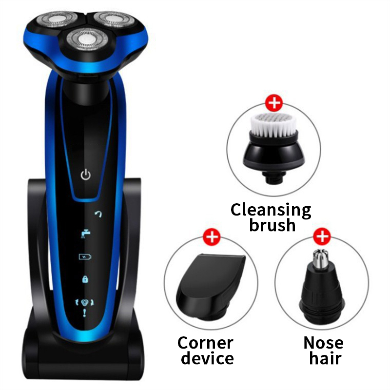 New Multi-function Razor Three-in-one Rechargeable Beard Knife Wash Electric Razor Shaving Machine Bald Head Shavers For Men