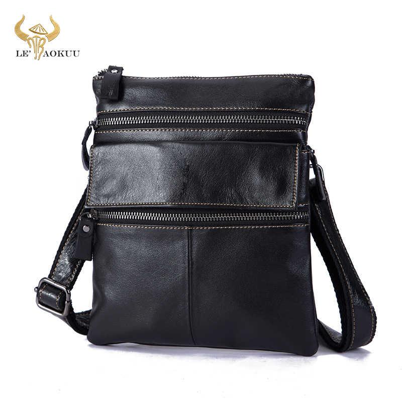 """9/"""" Unisex Genuine Leather Messenger Bag tablet bag satchel cross body bag sling"""