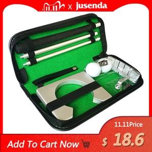 Image 1 - Golf Putter Putting Trainer Mini Golfuitrusting Practice Kit Reizen Praktijk Indoor Golfs Accessoires Golf Training Aids Tool