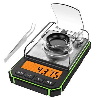 0.001g Digital Scale Portable Mini Scale Precise Graduation Professional Pocket Scale Milligram 50g Calibration Weights Tweezer 8