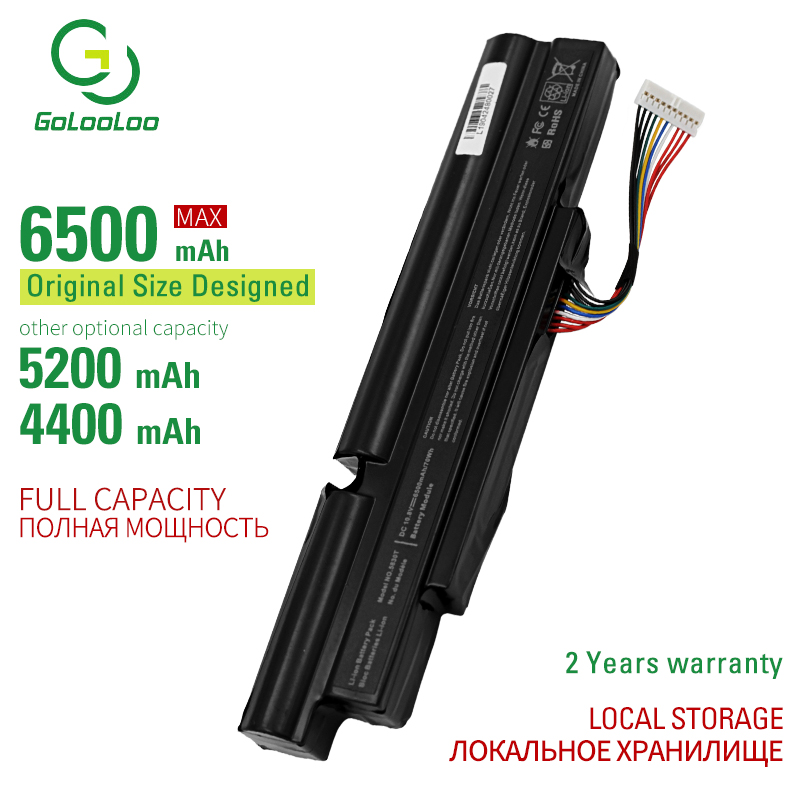 Golooloo 6 cells laptop battery 3830T for Acer Aspire TimelineX 3830T 4830T <font><b>4830TG</b></font> 5830T 5830TG 3INR18/65-2 AS11A3E AS11A5E image