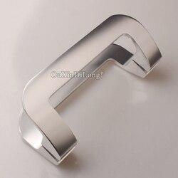 Świetnie zaprojektowane 2 pary Solid Space aluminiowe szklane klamki do drzwi przesuwnych Home Office Pull/Push klamki do drzwi długość 220mm/250mm