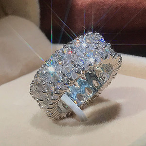 Elegant Female 925 Sterling Silver Big Water Drop Zircon Stone Ring Finger Rings For Women Promise Love Valentine's Day Gifts