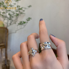 XIYANIKE 925 Sterling Silver New Arrival Irregular Surface Bump Diamond Ring INS Female Art All-match Fashion Handmade Кольцо