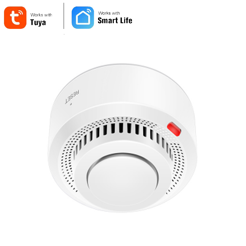 Smart Home Automation Wifi Smart Smoke Detector Tuya Smart Life Fire Alarm Sensor Home Security System