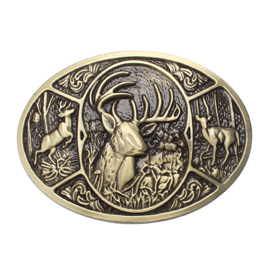 Novelty Zinc Alloy Deer Shape Belt Buckle 3D Elk Metal Costume Animal Casual Cowboy Cowgirl Jeans Belt Accessroy Cool Buckle
