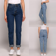 Fashion Casual High Waist Jeans Pencil Pants for Women Slim Fit Vintage Loose Trousers Cowboy Imitation 115