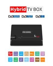 MECOOL קי פרו DVB S2 DVB T2 DVB C מפענח אנדרואיד 7.1 טלוויזיה תיבת 3gb 16gb Amlogic S912 אוקטה Core 64bit 4K 2.4G/5G WiFi להגדיר תיבה עליונה