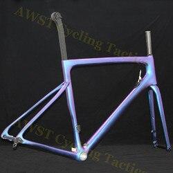 Sl6 새로운 디자인 에어로 탄소 섬유 자전거 프레임 자전거 디스크 브레이크 탄소 도로 자전거 탄소 도로 자전거 프레임 v 브레이크