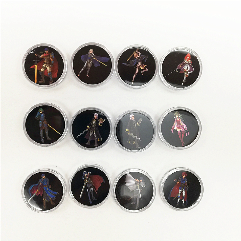New Full Set 12Pcs Fire Emblem Three Houses Of Amiibo Card Game Collection Coin NFC Tag NS Switch Zelda Mario Kart 8 Splatoon