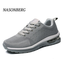 NASONBERG Soft Mesh Men Shoes Breathable Male Shoes Adult Red Black Gray High Quality Comfortable Non-slip Men Sneakers