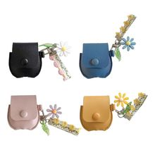 Luxury Earphone Case Leather Protective Cover Bag with Lanyard for Airpods Wireless Charging