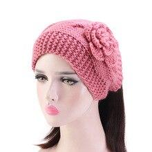 цены New fashion Handmade crochet flower headwrap knit headband winter turban Women Headband Winter Ear Warmer hair accessories