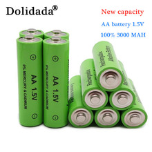 1-24PCS new label 3000 MAH rechargeable battery AA 1.5 V. Rechargeable new Alcalinas battery for light emitting diode toy
