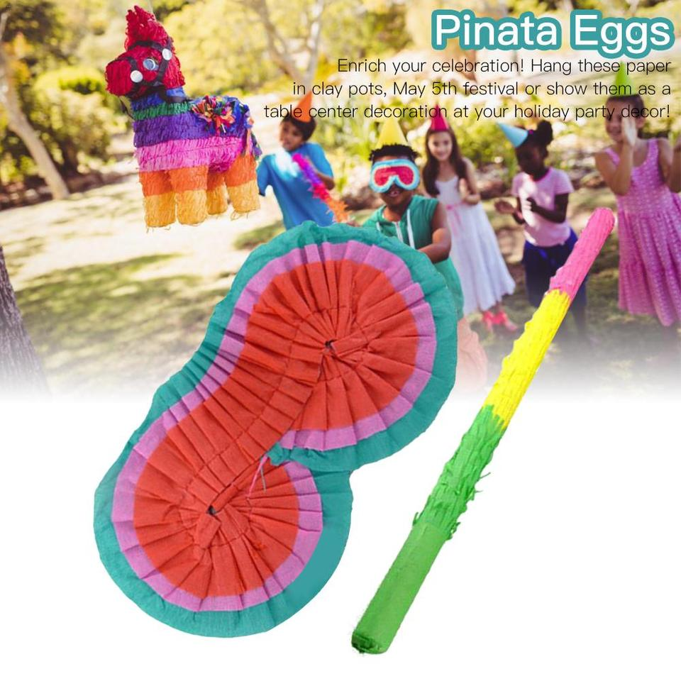 Mexican Party Bright Pinata Buster Stick