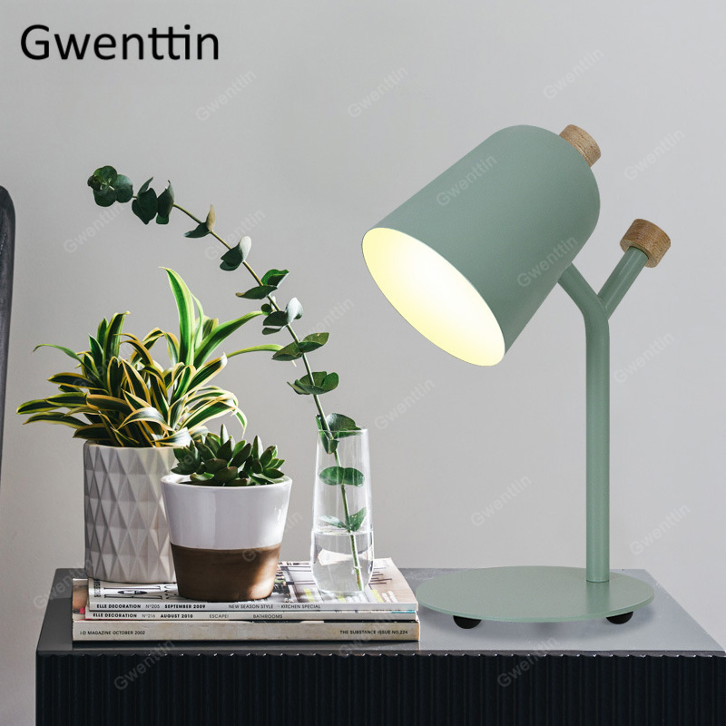 Modern Iron Table Lamps Standing Desk Lights for Reading Bedroom Bed Bedside Lamp Led Light Fixtures Luminaire Nordic Home Decor|LED Table Lamps| |  - title=
