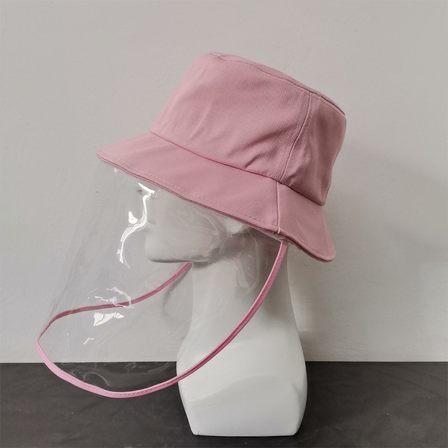 Virus Protective Face Shield Mask Cover Hat Anti Spitting Saliva Drool Fisherman Cap Clear Facial Mask Splash Anti-Fog Anti-Oil 2