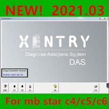 2021.3 mb estrela xentry software diagnóstico para c4/c5/c6 com 360g ssd/320gb hdd xentry 2021 dasremote instalar e ativar
