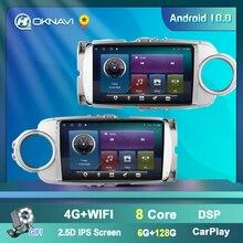 Автомагнитола OKNAVI, Android 9,0, GPS, мультимедийный плеер для Toyota Yaris 2012, 2013, 2014, 2015, 2016, 2017, 2 Din, без DVD