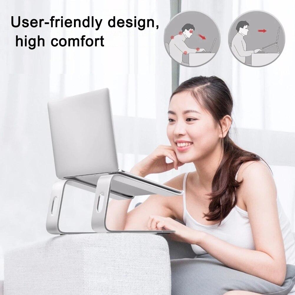 Алюминиевый сплав Настольный держатель для ноутбука теплоотвод противоскользящая Подставка для планшета IJS998