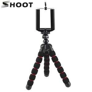 SHOOT Portable Small Octopus Tripod for For iPhone X 6 7 6S Samsung Vivo Huawei Xiaomi redmi note Mobile Phone with Phone Clip