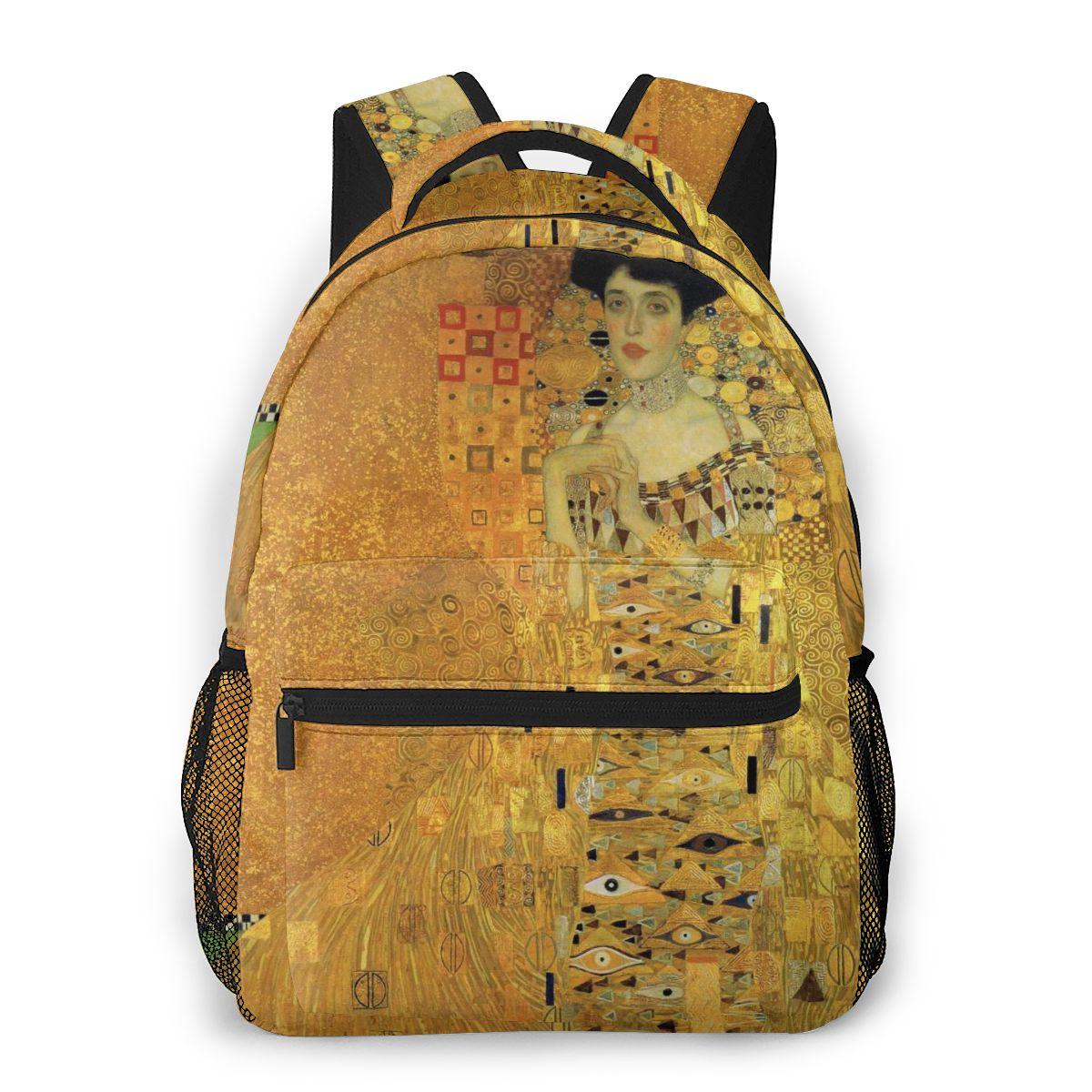 Teenage Bookbag Backpack For Men Male Back Pack Travel Bag Gustav Klimt