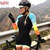 Kafitt triathlon ciclismo jérsei terno senhoras ciclismo sexy apertado fina de manga curta correndo maiô macaquinho feminino 5