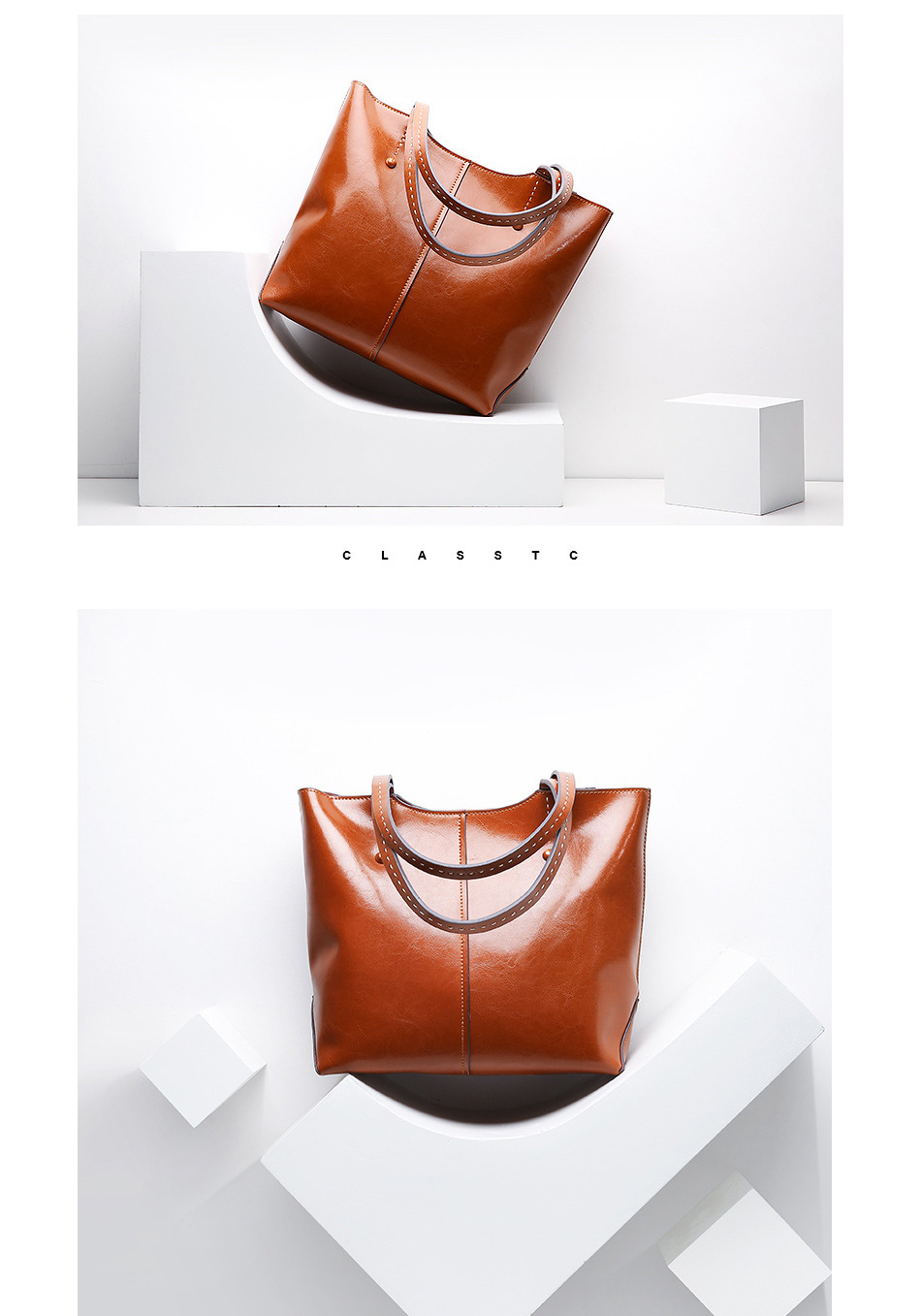 Zency 100% couro genuíno moda feminina bolsa