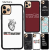 MaiYaCa GREY GREYS ANATOMY For iPhone 11 Pro Max XS X XR SE 2020 7 8 Plus Case For iPhone 12 Pro Max mini