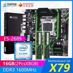 HUANANZHI X79 zestaw płyt głównych X79 ZD3 REV2.0 M.2 MATX z procesorem Intel Xeon E5 2689 2.6GHz 2*8GB (16GB) DDR3 1600MHz ECC/REG RAM w Płyty główne od Komputer i biuro na