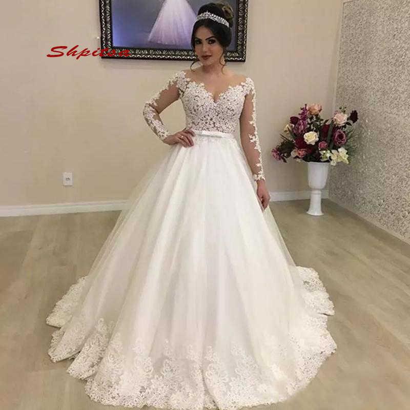 Long Sleeve Lace Wedding Dress 2020 Ball Gown Tulle Princess Women Plus Size Wedding Gowns Weeding Weding Bridal Bride Dresses Aliexpress,Mermaid Corset Mermaid Wedding Dresses Plus Size
