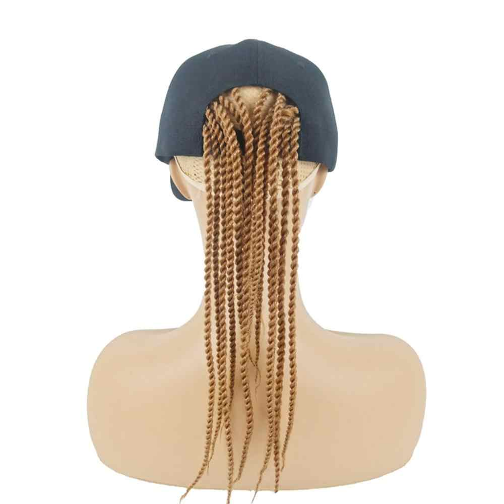 Baseball Hat with Synthetic Hair Dirty Wigs Unisex Hair Rope Hair accessory korean style headbands Hip-hop Hat Hair Dreadlocks#D