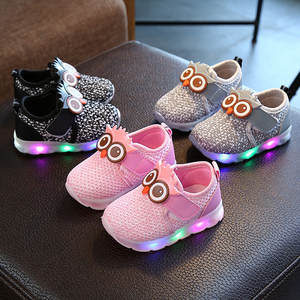 Kids Shoes Sneakers Runing Toddler Winter Led Girls Boys Luminous Cartoon Children Cute