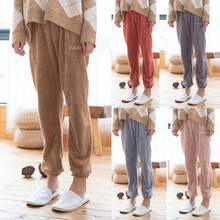 Women's Fashion New Style Pure Coral Velvet Household Trousers Comfortable Pants home trousers m style диван coral