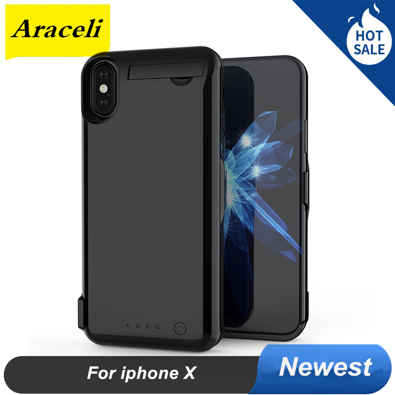 Iphone X Battery Case | 10000 Mah For Iphone X Battery Case 2020 Backup Battery Charger Case Cover Smart Power Bank For Iphone X Battery Case