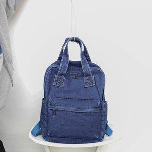 Image 5 - Casual Female Backpack Denim School Backpack High Quality College Teen Girl School bags Women Student Backpack